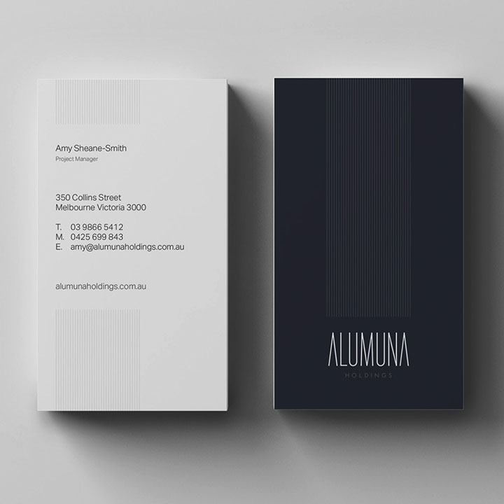 Alumuna Stationery Design Business Cards