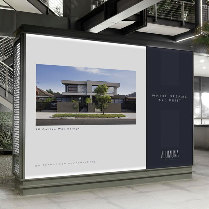 Signage Display and Design for Alumuna Holdings