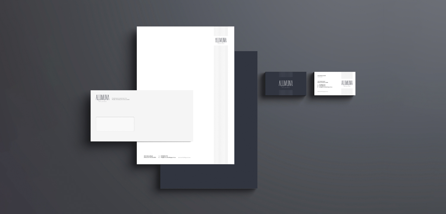 Alumuna Corporate Stationery Design