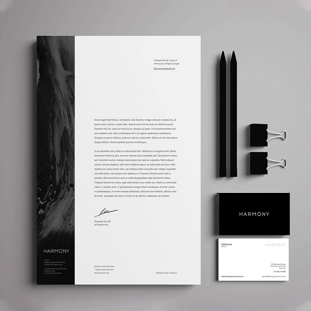 BA - HARMONY - Corporate Identity Package
