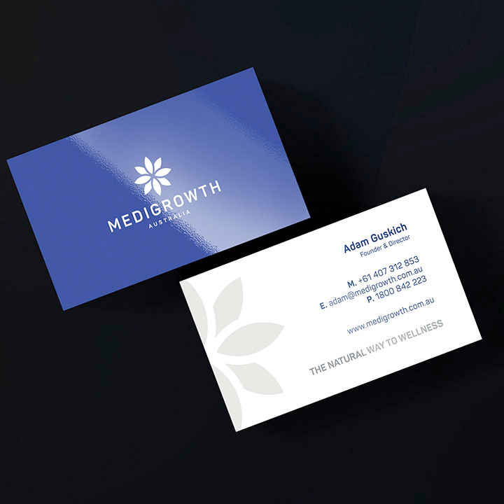 Medigrowth Business Card Stationery Design