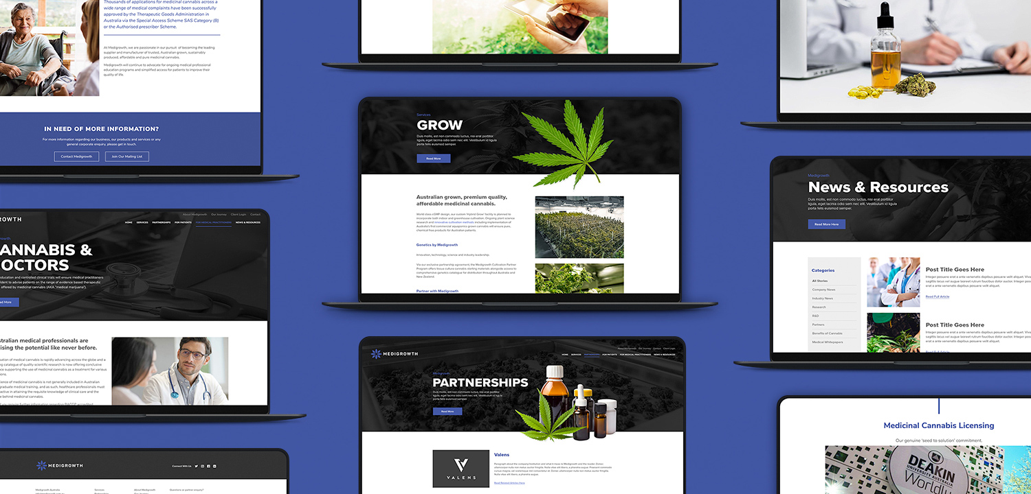 Medigrowth Website Design
