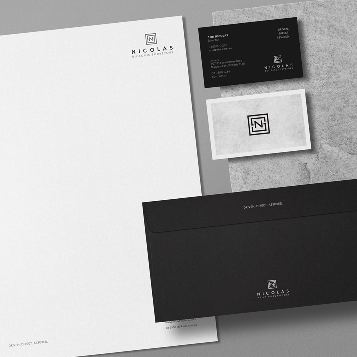 Stationery Design for Nicholas Business Surveyors