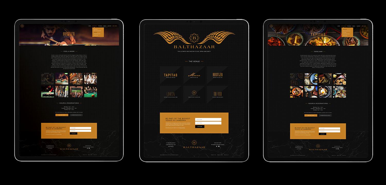 Balthazaar- Website Design on iPad