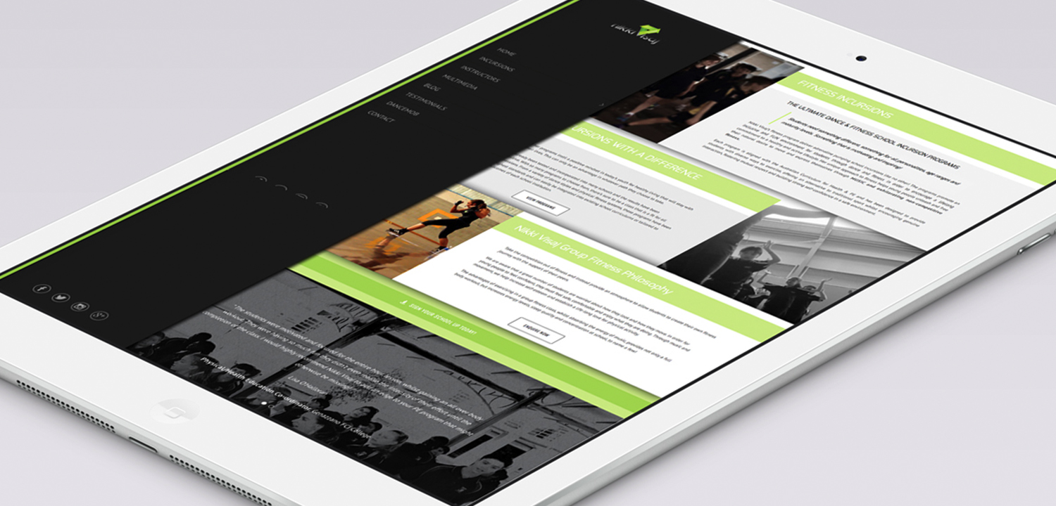 Boss Agency - Nikki Visaj - Website iPad