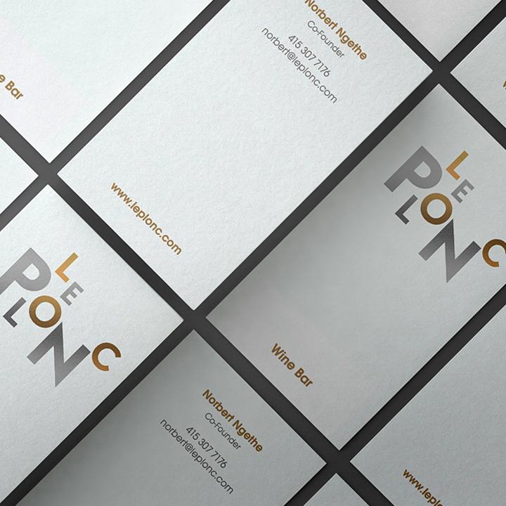 Le Plonc Business Card Design