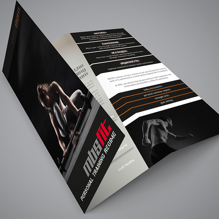 Trifold Brochure Print Design MBSGYM