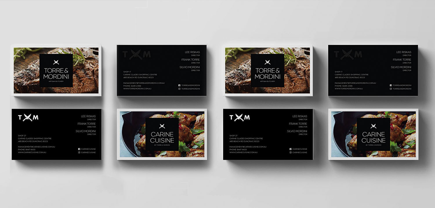 Business Card Stationery Design for Torre & Mordini Cusine