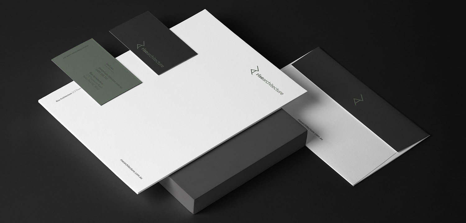 Stationery Design for Rise Architecture