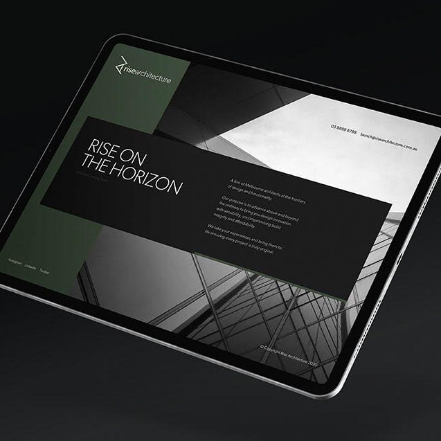 Rise Architecture Landing Page
